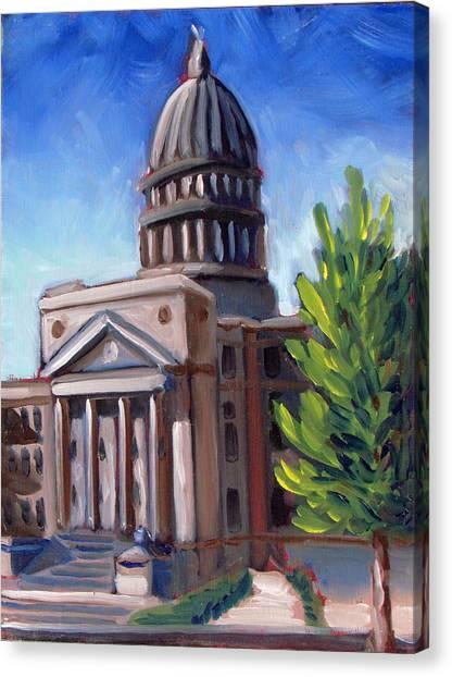 Boise Capitol Building 01 Canvas Print