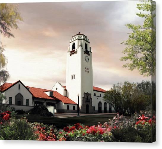 Boise Depot Canvas Print by Brent Borup