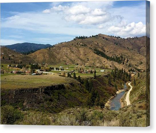 Boise National Forest Canvas Print - Boise National Forest Hwy 21 by Sandra M