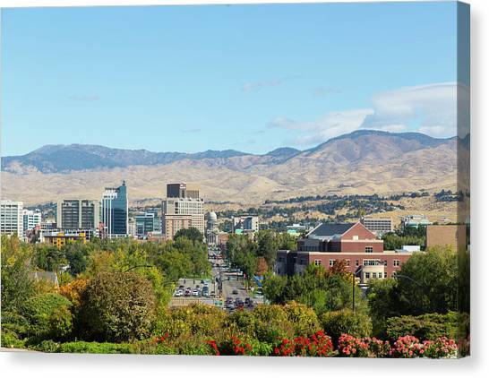Boise Skyline Canvas Print