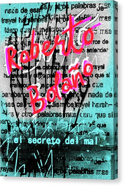 Imaginary Worlds Canvas Print - Bolano The Secret Of Evil Poster  by Paul Sutcliffe