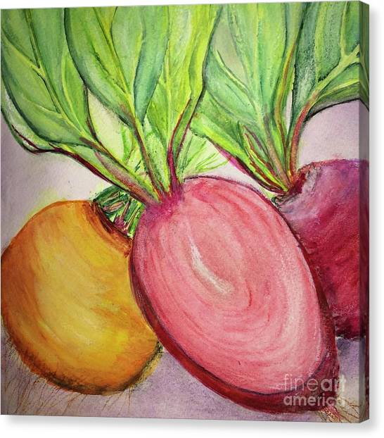 Bold Beets Canvas Print