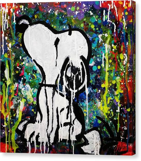 Fluids Canvas Print - Bold.snoopy by A MiL