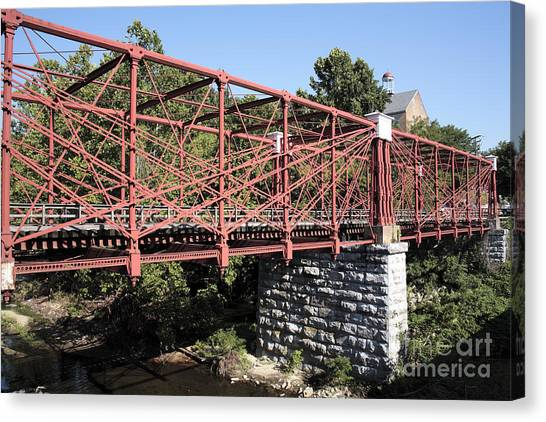 Bollman Truss Bridge At Savage In Maryland Canvas Print