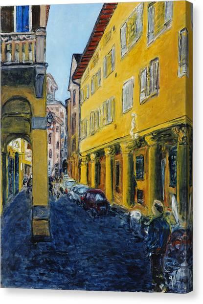 Bologna Galeria Canvas Print by Joan De Bot
