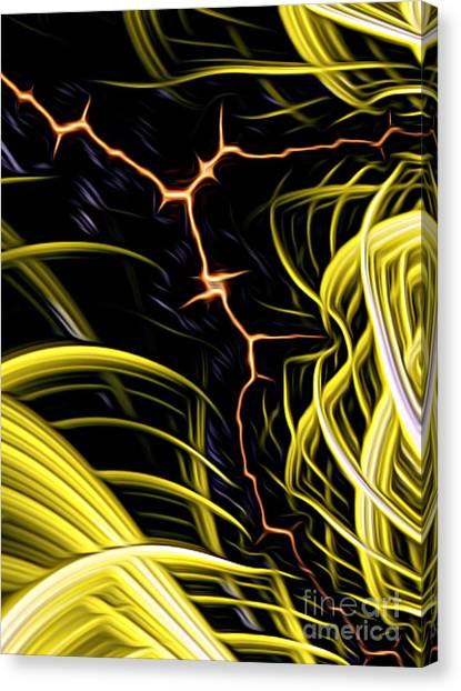 Bolt Through Canvas Print