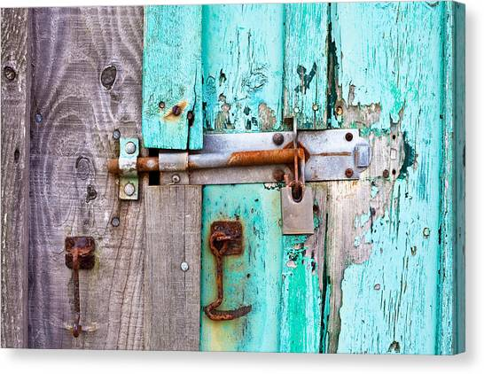 Bolted Door Canvas Print