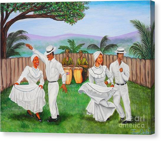 Bomba Dance Canvas Print by Juan Gonzalez