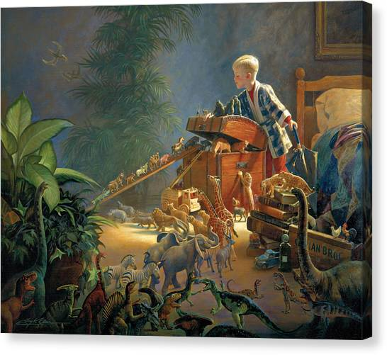 Boy Canvas Print - Bon Voyage by Greg Olsen