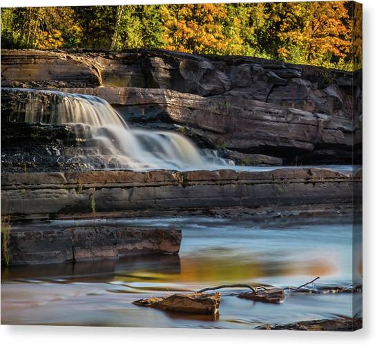 Bonanza Falls - Big Iron River, Silver City, Mi Canvas Print