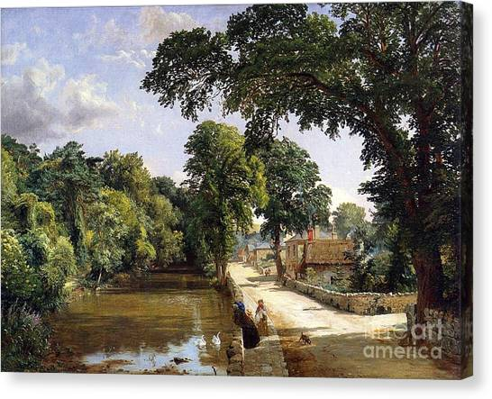 1900 Canvas Print - Bonchurch Isle Of Wight by Jasper Francis Cropsey