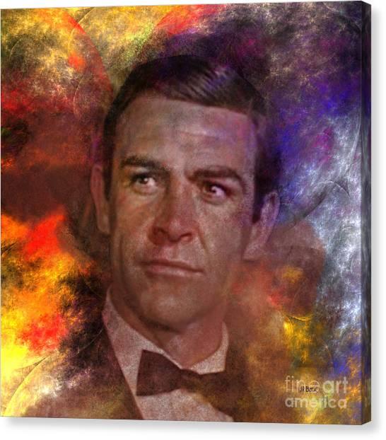Dr. J Canvas Print - Bond - James Bond - Square Version by John Beck