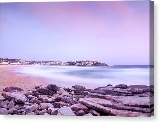 Low Tide Canvas Print - Bondi Basin by Az Jackson