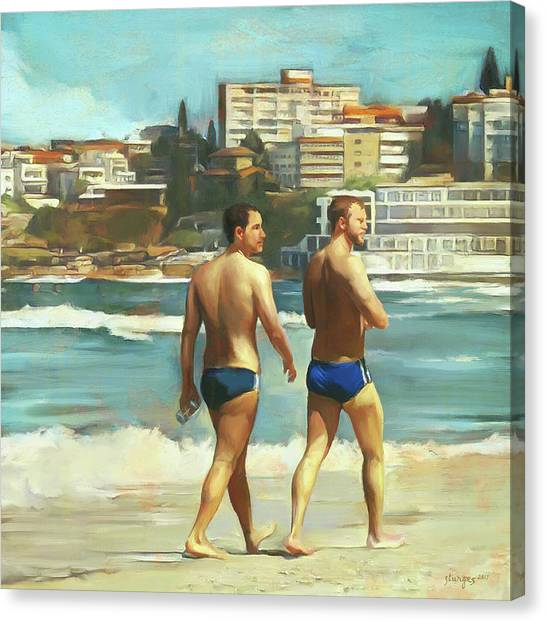 Bondi Beach Boys Canvas Print