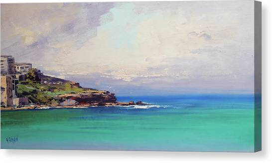 Beautiful Nature Canvas Print - Bondi Beach Colours by Graham Gercken