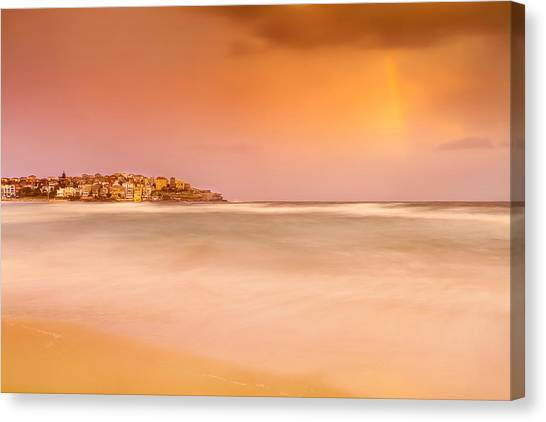 Beach Sunsets Canvas Print - Bondi Phenomenon  by Az Jackson