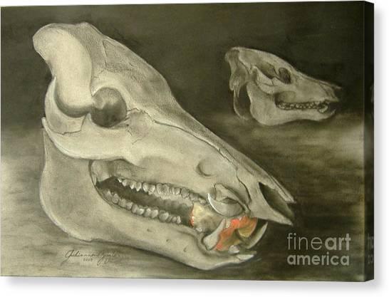 Bone Appetit Canvas Print by Julianna Ziegler