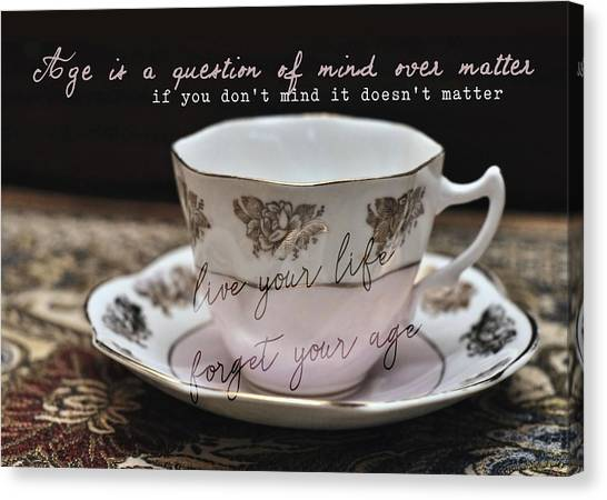 Bone China Quote Canvas Print by JAMART Photography