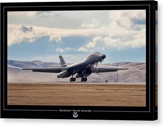 Cold War Canvas Print - Bone-in Lancer by Peter Chilelli