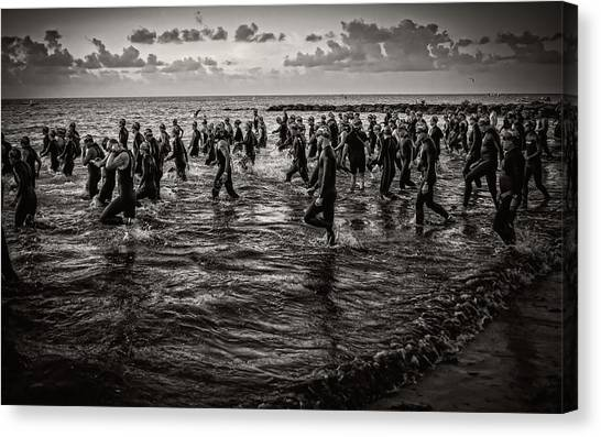Bone Island Triathletes Canvas Print