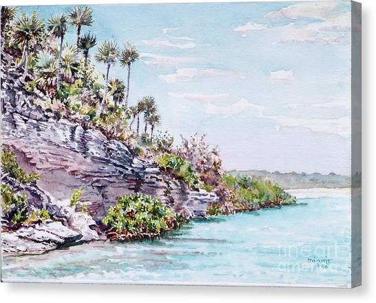 Bonefish Creek Watercolour Study Canvas Print