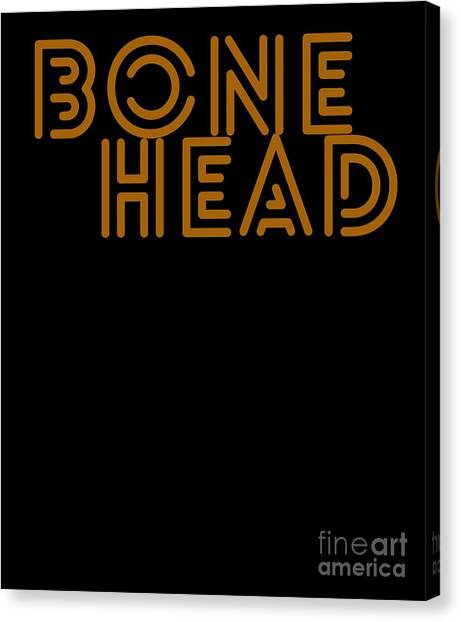 Canvas Print - Hallows Eve Spooky Gift Bonehead Art Word Funny Halloween Party by Thomas Larch
