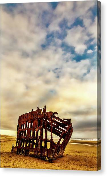 Peter Iredale Canvas Print - Bones Of A Shipwreck by Garry Gay