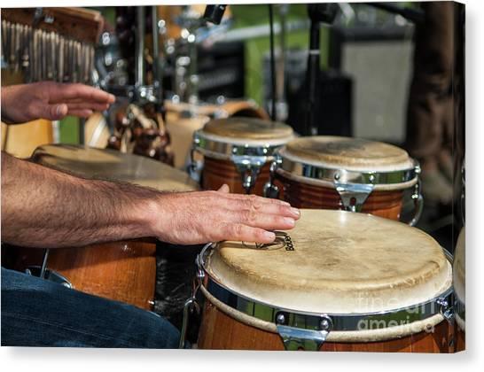 Bongo Hand Drums Canvas Print