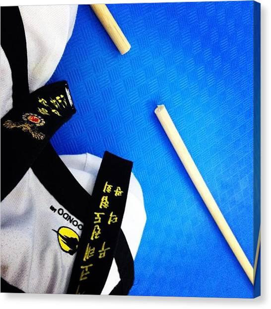 Taekwondo Canvas Print - #bongsul Broken #jangbong #mdkviveros by Abraham Sorkin