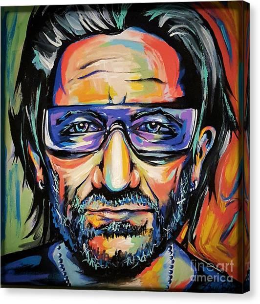 Bono Canvas Print - Bono by Amy Belonio