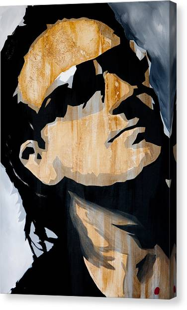 U2 Canvas Print - Bono by Brad Jensen