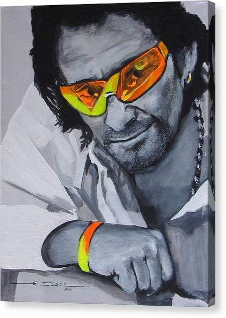 Bono Canvas Print - Bono  U2 2 U by Eric Dee