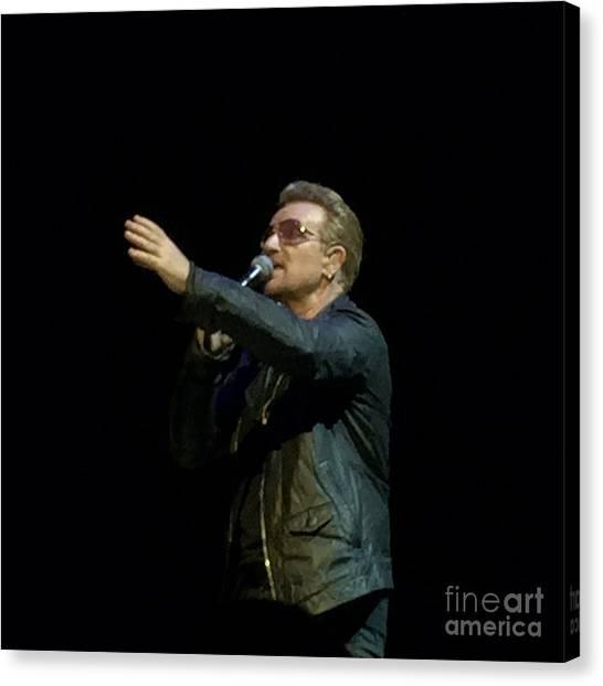 Bono - U2 Canvas Print