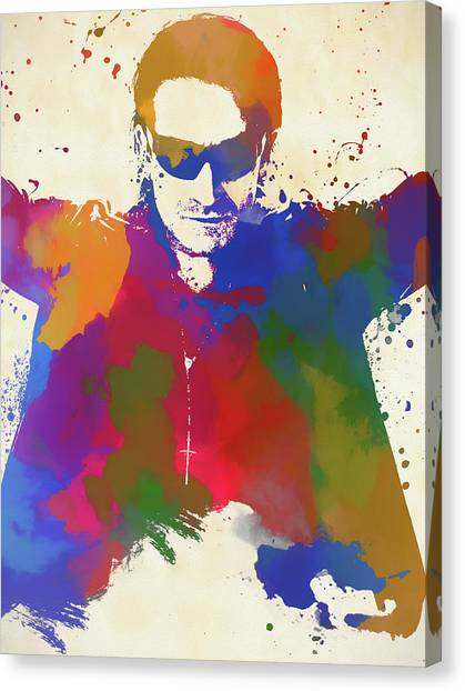 Bono Canvas Print - Bono Watercolor by Dan Sproul