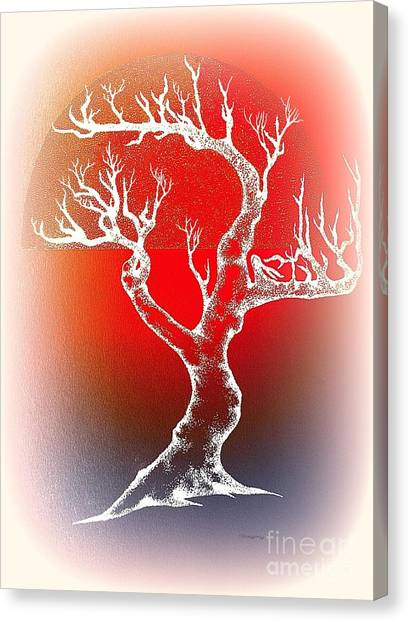 Bonsai Red Canvas Print