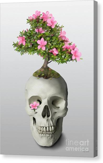 Bonsai Skull Canvas Print