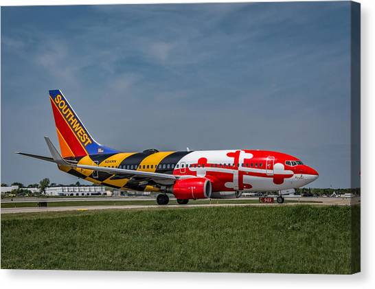 Boeing 737 Maryland Canvas Print