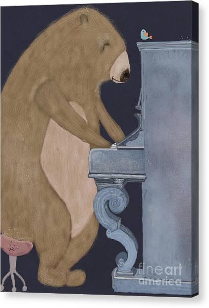 Brown Bears Canvas Print - Boogie Bear  by Bri Buckley