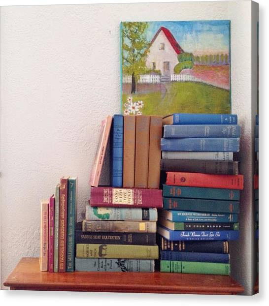 Supplies Canvas Print - Book Stacks Full Of Old Classics by Blenda Studio
