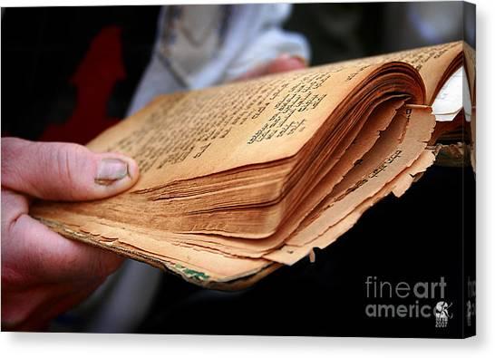 Book Torah Canvas Print by Stas Krupetsky