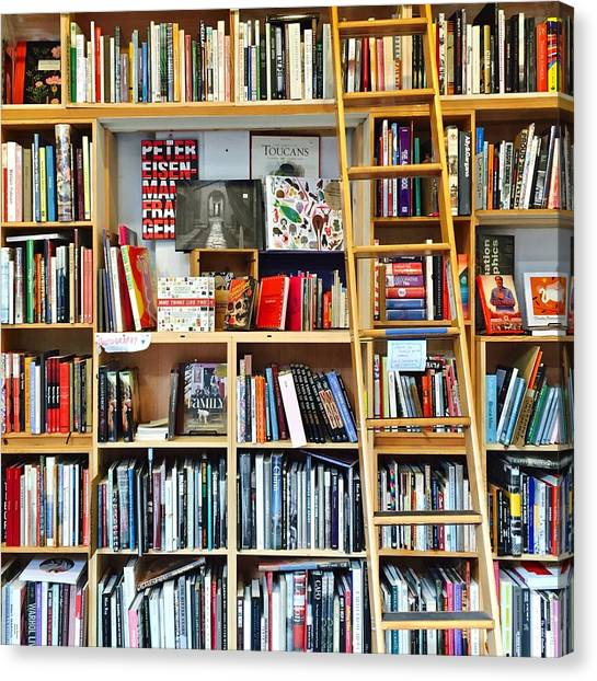 Supplies Canvas Print - Bookstore by Julie Gebhardt