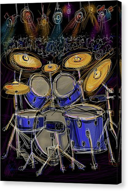 Drums Canvas Print - Boom Crash by Russell Pierce