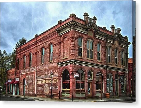 Boomtown Saloon Jacksonville Oregon Usa Canvas Print
