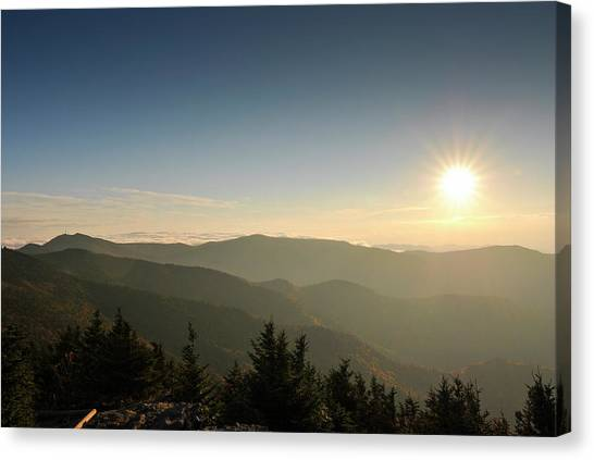 Boone Nc Area Sunset Canvas Print