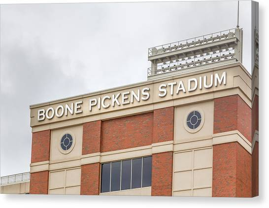 Oklahoma State University Canvas Print - Boone Pickens Stadium At Oklahoma State University by Ken Wolter
