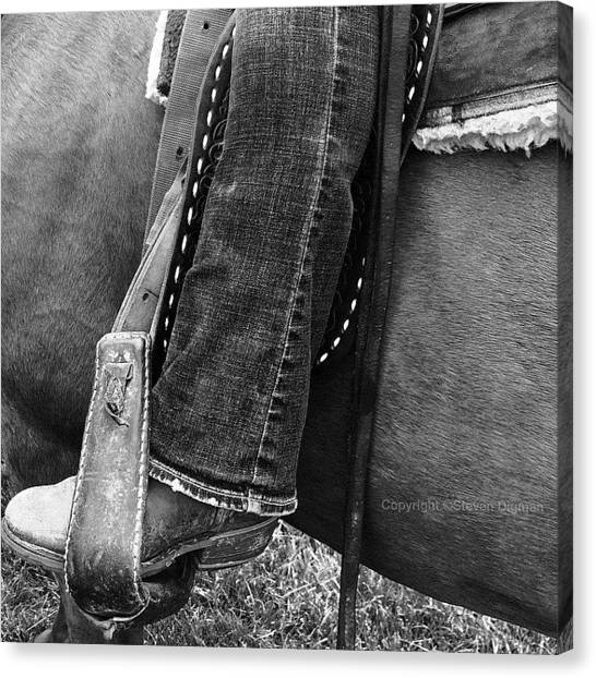 Horses Canvas Print - Boot Stubble   by Steven Digman