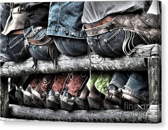 Spurs Canvas Print - Boots And Butts by Heather Swan