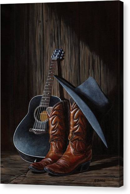 Cowboy Boots Canvas Print - Boots by Antonio F Branco