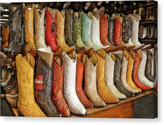 Boots In Every Color Canvas Print