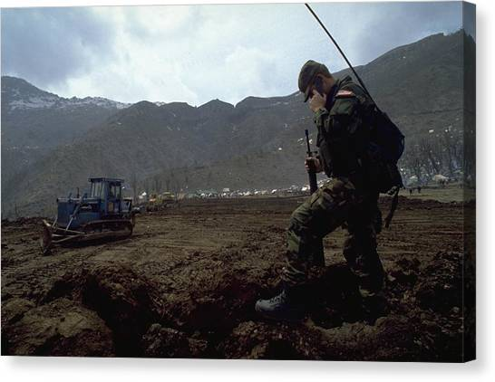 Michel Guntern Canvas Print - Boots On The Ground by Travel Pics
